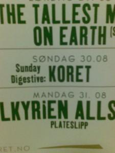 Sunday Digestive plakat
