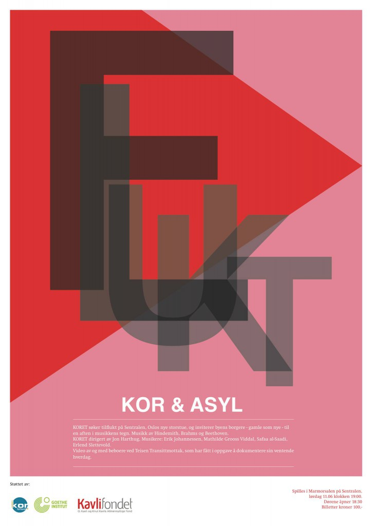 KOR & ASYL konsertplakat